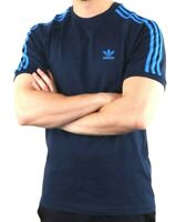 Adidas Originals Mens Trefoil California Tees Crew Neck T Shirt Navy Blue NEW