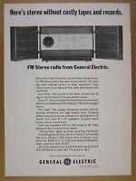 1964 GE General Electric T1500 FM Stereo Radio Hi-Fi photo vintage print Ad
