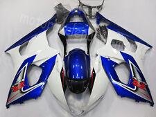 For Suzuki GSXR 1000RR K3 2003-2004 GSX-R Gloss Blue W/White Plastic Fairing Kit