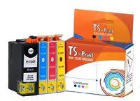 TS-Print Set Drucker Tinten-Patronen komp. Epson T1302 XL Workforce WF3520DWF