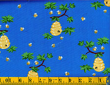 Barron the Bear companion fabric by SusyBee Cotton Quilt fabric Bees & Bee Hive