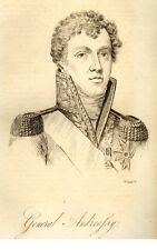 """GENERAL ANDREOFSY from  """"Public Characters of All Nations"""" -1823- by Phillips"""