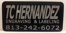 Engraved Plate for Trophy, Plaque, Display Case, Award, Art,