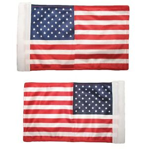 """6""""x9"""" 6x9 USA Nylon Boat Motorcycle Car Double Sided Flag Banner Sleeve"""