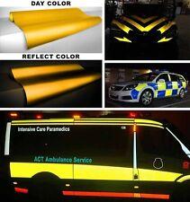 Vvivid 100ft x 4ft yellow reflective vinyl car wrap film