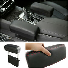 Universal Car Armrest Storage Box Seat Gap Install Leather Elbow Rest Support
