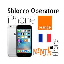 SERVICE SBLOCCO UNLOCK IPHONE 4S 5 5C 5S 6 6+ 6S 6S+  OPERATORI FRANCESI FRANCIA
