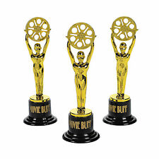 Movie Buff Gold Trophies - Stationery - 12 Pieces