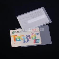 10pcs  Kunststoff Kartenhüllen Karten Schutzhülle Ausweis Tasche Protektoren