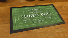 Personalised Welcome Football pitch Bar runner counter mat