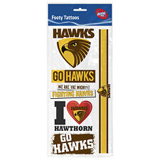Hawthorn Hawks AFL Tattoo Sheet **AFL Official Merchandise**