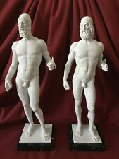 "Riace Bronzes in White Marble (37.5cm / 14.8"")"