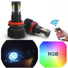 Phone APP Smart Control Multi Color RGB High Beam DRL For Honda Civic 2008-2018