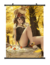 "Hot Anime Pokemon Monster Eevee Home decor Poster Wall Scroll 8""x12"" F327"