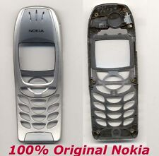 ORIGINALE 100% Nokia Cover Argento 6310 6310i FRONT COVER GUSCIO CHASSIS come nuovo