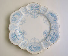 Wileman/Foley (pre-Shelley) Side Plate - Blue Cameo Snowdrop - Antique China