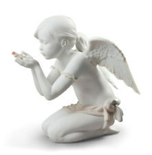 Lladro A Fantasy Breath Angel #9223 Brand Nib Blowing Petals Large Save$ F/Sh