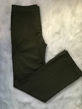 Women's Lacoste Goemon size 8 Olive Green Career/Casual Cotton Twill Pants NEW
