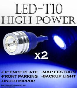 4x pcs T10 168 194 2825 W5W Blue High Power LED Under Mirror Lights Lamps R755
