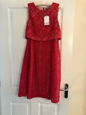 0b2ca22872a9 BNWT OASIS LADIES Red LACE CAMI MIDI OCCASION DRESS SIZE 10 - BRAND NEW RRP  £
