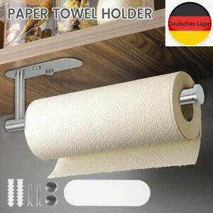 Toilettenpapierhalter Küchenpapierhalter Handtuchhalter Wandhalterung Weiß