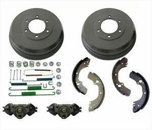Rear Drums Brake Shoes Spring Kit Cylinders for Isuzu Rodeo 6pc 2000-2004