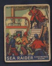 Sea Raider Goudey  1933 Gum Card Pirates #18 Mutiny of the Crew  Boston Back