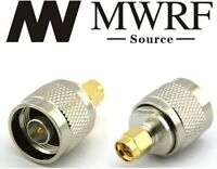 2 X N male plug To SMA Male jack RF connector Adapter US Based and Fast Shipping