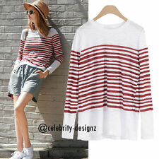 Long Sleeve Tunic Striped 100% Cotton Tops & Blouses for Women