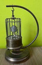 Petite pendule cage oiseau mécanique automate 21 cm