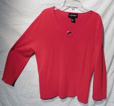 REQUIREMENTS red long sleeve SIZE M SWEATER top#27
