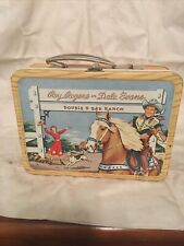 1950's Roy Rogers And Dale Evans Double Bar Ranch Metal Lunch Box And Thermos