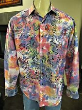"""Robert Graham Large Limited Edition """"Laser Art"""" Multi-Color Abstract"""