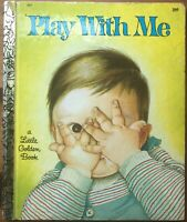 Play with Me Hardcover Vintage Little Golden Book Eloise Wilkin 1969 2nd