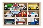 Melissa  Doug Wooden Town Site Vehicles Set 3170 New