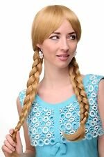 Women's Wig Cosplay Blond gold blonde plaited pigtails schoolgirl 3446-24B