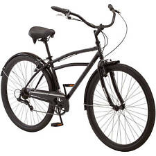 "Mens Cruiser Bike 29"" Bicycle Sports 7 Speed Shimano Ride Cycling Padded Seat"