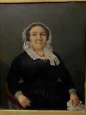 Biedermeier Portrait wohlhabende Frau um 1845 norddeutsch Hamburg? gute Qualität