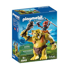 Playmobil Knights Giant Troll With Dwarf Fighter Building Set 9343 NEW IN STOCK