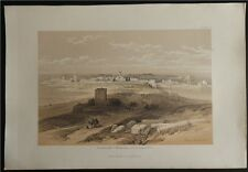 David Roberts Authentic 1855 Quarto Lithograph Plate 71 Tyre From the Isthmus