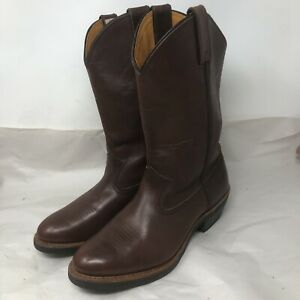 Chippewa Burgundy Leather Apache Men's Western Cowboy Boots #24910 Size 8 M