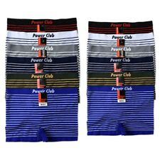6 Mens Microfiber Boxer Briefs Underwear Seamless Compression Knocker One Size