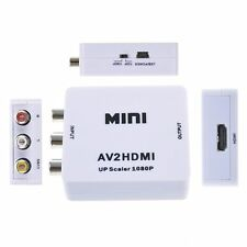 Mini Composite AV CVBS 3RCA to HDMI Video Converter Adapter 720p 1080p Upscaler