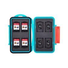 JJC MC-NSMSD16 Blue Hard Card Case fits Switch Game Card x8 + MSD Memory Card x8