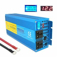 Double LED Pure Sine Wave Power Inverter 2500W/5000W DC 12V To AC 230V Off Grid