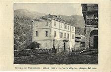 Stampa antica CAMANDONA la prima Colonia Alpina Biella 1894 Old antique print