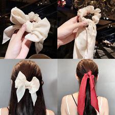 Ponytail Hair ties Scarf Elastic Hair Rope Hair Bow Ties Scrunchies Hair B NT3C