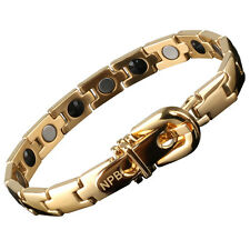 P021 Gold Bracelet with Magnets