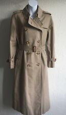 ****VINTAGE BURBERRYS DOUBLE BREASTED, 3/4 LENGTH,TRENCH COAT Sz  14 PETITE****