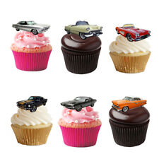 17 STAND UP USA American Classic Cars a tema wafer commestibile carta DECORAZIONI PER TORTA